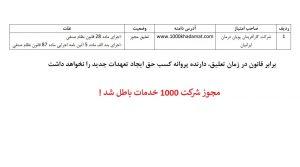 شرکت غیر مجاز بازاریابی شبکه ای 1000 خدمات - کارآفرینان پویان درمان ایرانیان